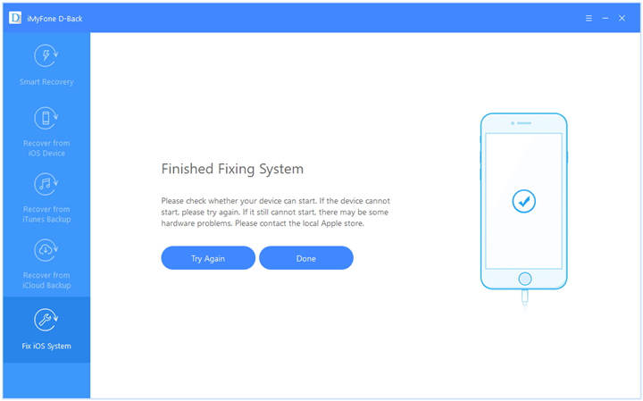 finished fixing iOS system