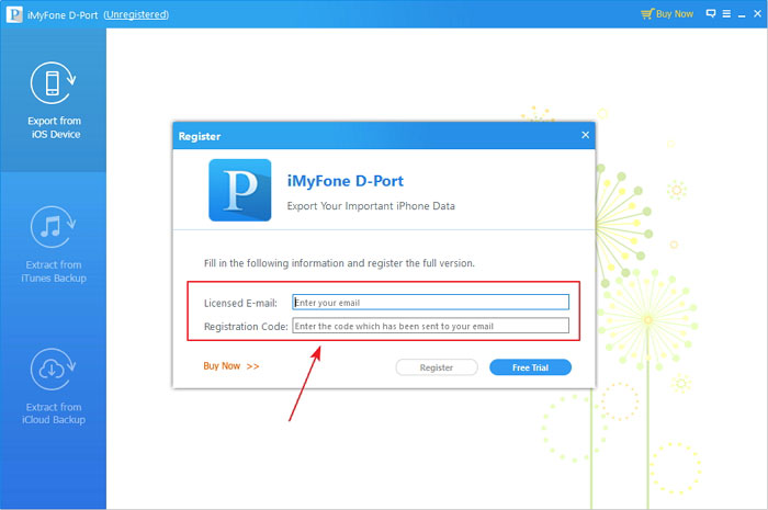 How to register iMyFone D-Port on Windows 2