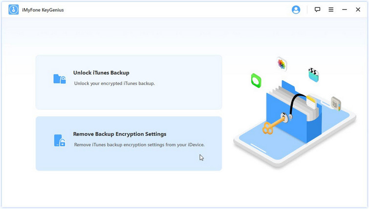 remove iphone backup encryption settings