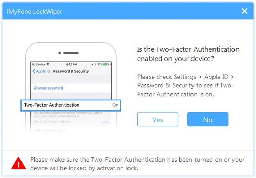 confirm the two factor authentication