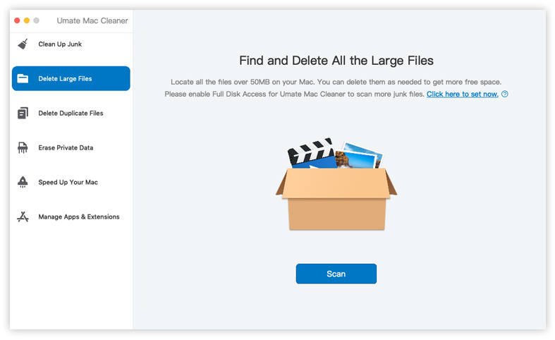choose delete large files